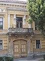 Street door and balcony. Varga's house. Early Eclectic monument house ID 3932 1860s.- 6, Zichy liget, Székesfehérvár, Fejér county, Hungary.JPG