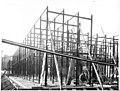 Structure métallique des magasins, chantier de construction de la Bibliothèque municipale de Toulouse, rue de Périgord, 1932 (7942246450).jpg