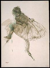 Study of a Ballet Dancer (recto)