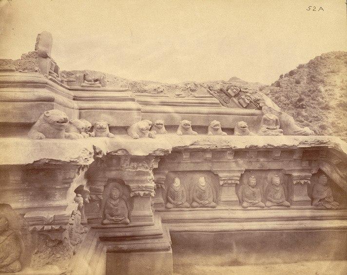 Stupa No. 4 after excavation, Ali Masjid