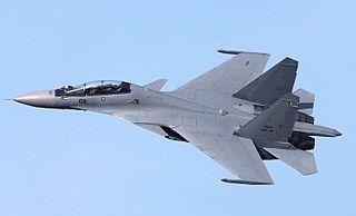 Sukhoi Su-30MKM Malaysian version of the Su-30MK multirole combat aircraft