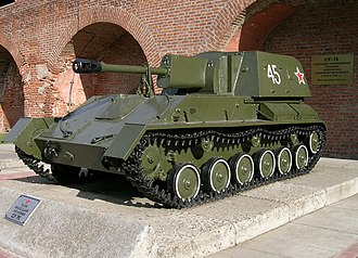 SU-76 - SU-76M Self-propelled gun in Nizhny Novgorod, Russia