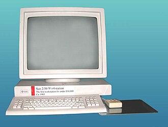 Diskless node - A Sun-2/50 diskless workstation from Sun-2 series