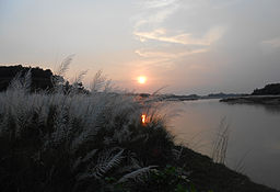 Sunset on the Shilabati banks on a December evening.jpg