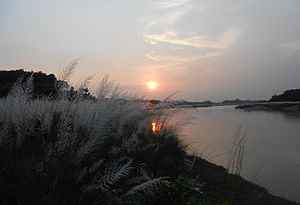 Garbeta - Image: Sunset on the Shilabati banks on a December evening