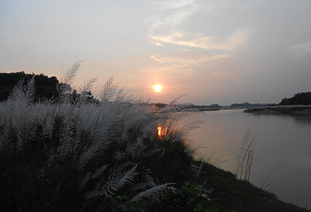 Sunset on the Shilabati banks on a December evening
