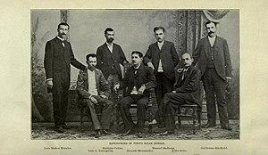 1899 Puerto Rico Census - Supervisors. Left - Luis Muñoz Morales, Luis A. Torregrosa, Enrique Colom, Ricardo Hernández, Manuel Badrena, Felix Seijo, Guillermo Riefkohl.