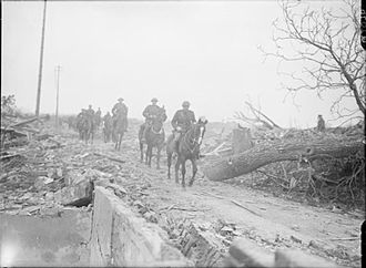 British yeomanry during the First World War - Surrey Yeomanry during the German retreat to the Hindenburg Line.