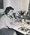 Suzanne Rivard Lemoyne-At Her Desk-1960s.jpg