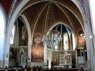 St. Martin's Parish Church (Bled) - Interior of St. Martin's Parish Church in Bled