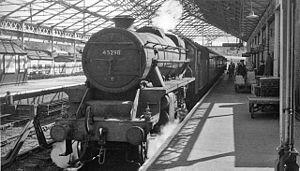 Llanelly Railway - A former LMS Stanier Black 5 at Swansea Victoria.