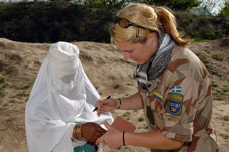 Fil:Swedish Military Observer Team Liaison Officer in Afghanistan 2006.JPEG