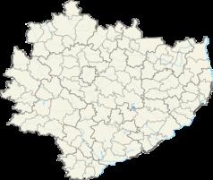 Mapa lokalizacyjna województwa świętokrzyskiego
