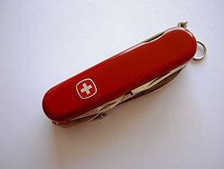 Нож производства Wenger в закрытом состоянии 37bf376dbf62a