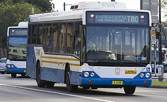 State Transit Authority - Western Sydney Buses Custom Coaches CB60 bodied Volvo B12BLE in Liverpool in July 2013
