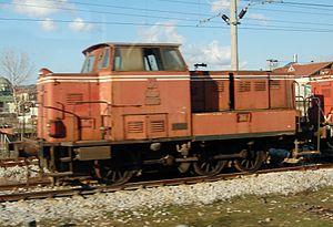 TCDD DH33100 - TCDD DH33121 shunter in Istanbul, Turkey. February 24, 2008
