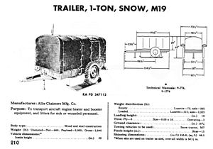 M7 Snow Tractor - M19 1-ton snow trailer