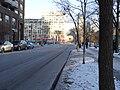 TTC bus 7793 proceeding west on the Esplanade, 2015 01 13 (8) (16093353068).jpg