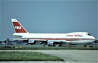 Trans World Airlines - At its heyday, TWA operated a fleet of 747-100 aircraft. This particular aircraft later exploded in midair as TWA Flight 800.