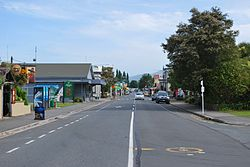 Commercial Street, (New Zealand State Highway 60), the main street of Takaka