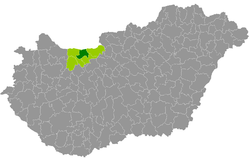 magyarország térkép tata Tatai járás – Wikipédia magyarország térkép tata