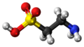 Taurine molecule ball.png