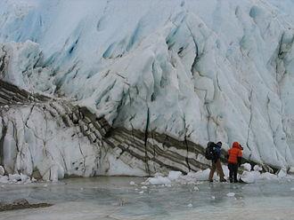 Lake Bonney (Antarctica) - Taylor Glacier at the lake