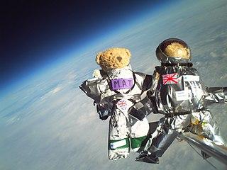 Teddy bear parachuting