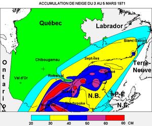Eastern Canadian blizzard of March 1971 - Image: Tempête du siècle 1971