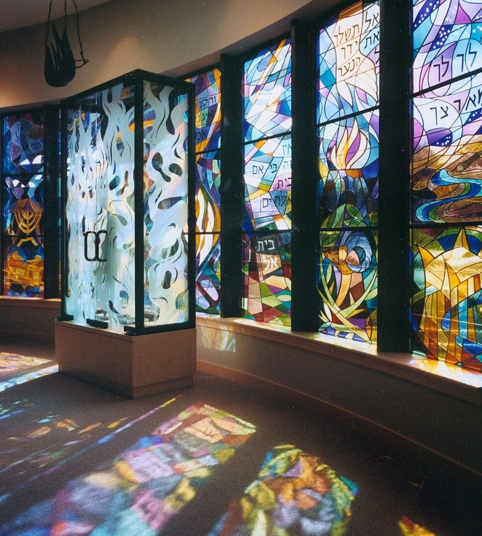 Temple Ohev Sholom Stained Glass, Ascalon Studios, David Ascalon