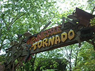 Tennessee Tornado roller coaster at Dollywood