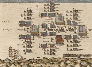 Army of Flanders - The Army of Flanders' deployment for the Battle of Nieuwpoort (1600).