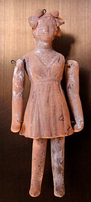 Ilkley Toy Museum - Image: Terracotta doll Louvre Cp 4654