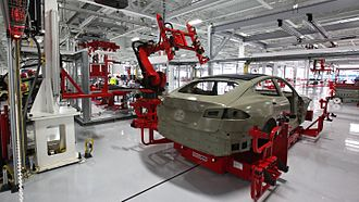 Tesla Model S - Model S manufacturing at the Tesla Factory