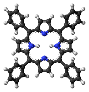 Tetraphenylporphyrin - Image: Tetraphenylporphyrin 3D balls