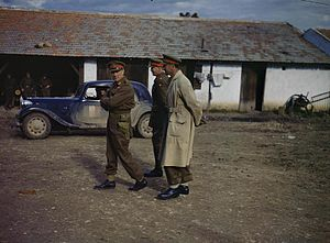 Charles Walter Allfrey - The British First Army GOC, Lieutenant General K. A. N. Anderson (walking in front) during a visit to 78th Division's HQ in Tunisia, January 1943. To his right is Major General V. Evelegh, GOC 78th Division, and to his left is Lieutenant General C. W. Allfrey, GOC V Corps.