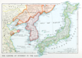 The Centre of Interest in the East - Japan, Korea, Manchuria 1903.png