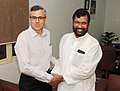 The Chief Minister of Jammu and Kashmir, Shri Omar Abdullah calls on the Union Minister for Consumer Affairs, Food and Public Distribution, Shri Ramvilas Paswan, in New Delhi on July 09, 2014.jpg