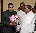 The Chief Minister of Karnataka, Shri Siddaramaiah meeting the Union Minister for Commerce & Industry, Shri Anand Sharma, in New Delhi on December 16, 2013.jpg