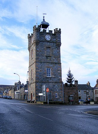 Dufftown Clock Tower - Image: The Clock Tower at Dufftown geograph.org.uk 1620351