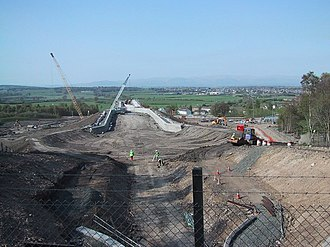 Falkirk Wheel - The construction of the basin.