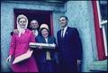 The First Lady poses with some villagers in Ireland - NARA - 194334.tif