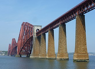 Edinburgh, Leith and Newhaven Railway - The Forth Bridge seen from South Queensferry