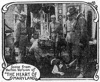 The Heart of Maryland (1915 film) - Scene from the film