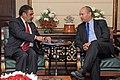 The Minister of Economy, Israel, Mr. Naftali Bennet meeting the Union Minister for Commerce & Industry, Shri Anand Sharma, in New Delhi on October 08, 2013.jpg