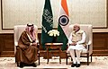 The Minister of Energy, Industry and Mineral Resources, Kingdom of Saudi Arabia, Mr. Khalid Al-Falih calls on the Prime Minister, Shri Narendra Modi, in New Delhi on February 23, 2018 (1).jpg