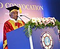 The Minister of State for Finance and Shipping, Shri P. Radhakrishnan addressing the gathering at the 3rd Convocation of the Indian Maritime University, at Chennai on February 16, 2018.jpg