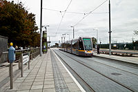 The New Luas Extension - Leopardstown Valley (5094519646).jpg