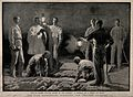 The Nile Expedition; burying one victim of the cholera epide Wellcome V0015357.jpg