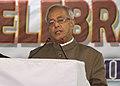 The President, Shri Pranab Mukherjee addressing at the Diamond Jubilee of Adimjati Shiksha Ashram, at Imphal in Manipur on April 15, 2013.jpg